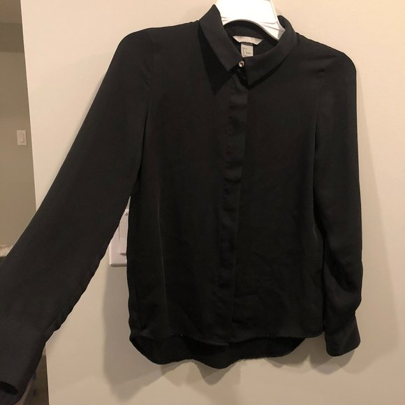 H&M Silky Button Down Blouse